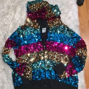 RARE RAINBOW SEQUIN FASHION SHOW EXCLUSIVE PINK VS